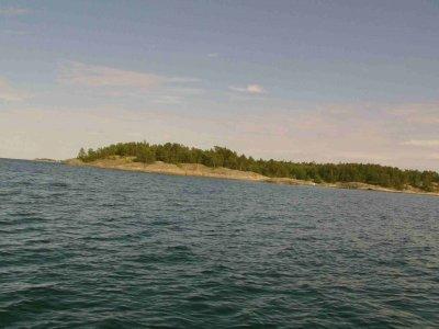 Mit 7 kn nach Finnland gestürmt: der kleine Hafen Dragesviken