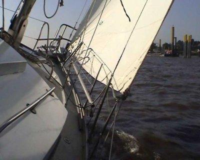Hoch am Wind nach Wieck (Greifswald)