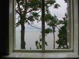 Blick aus dem Fenster des Hauses von Thomas Mann in Neda (Nidda)