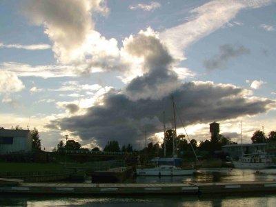 Schlechtwetterhimmel über Mersrags