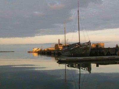 Zurück von Ruhnu nach Mersrags bei Flaute