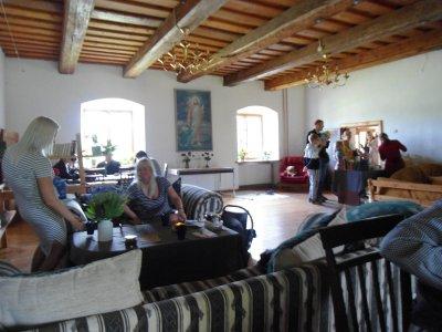 und die letzte Station unseres Kulturspazierganges: Gemeindehaus der lutherischen Kirche in Mazirbe