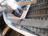 Alte Holzschiffe werden hier restauriert. 03.07.